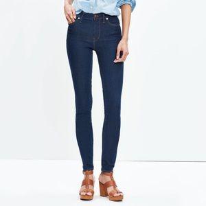 "Madewell 9"" high rise skinny jeans in Davis wash"